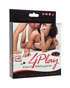 4play set de juegos. 4play set of games. es/en/de/fr