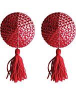 Nipple tassels round red