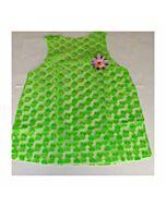 Woman costume green hearts