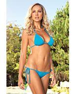 Leg avenue Brazilian bikini triangle with turquoise ruched