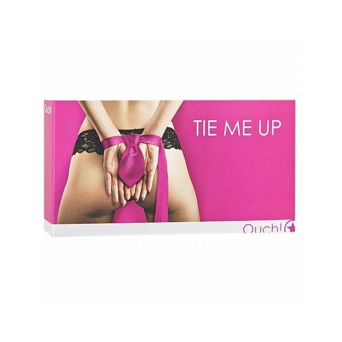 Pink handcuffs bondage tie