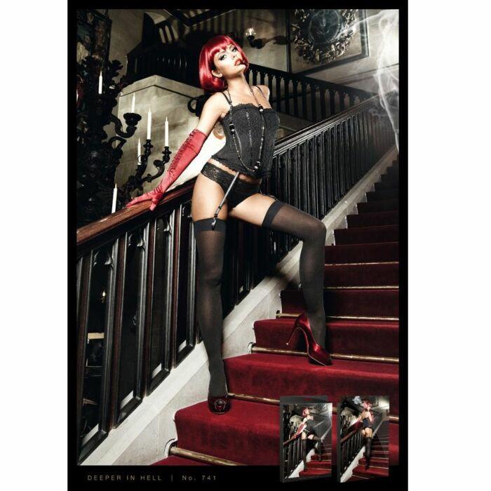 Baci corset black lace garter