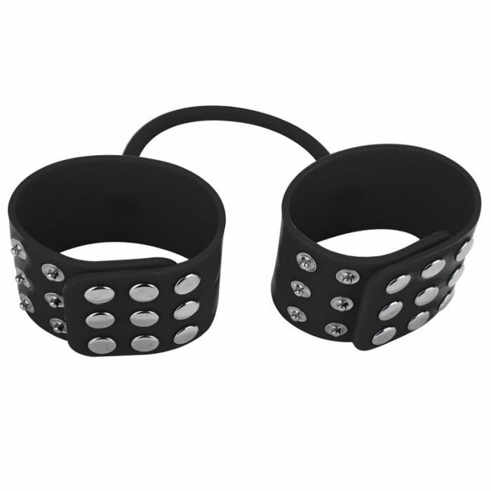 Handcuffs black silicone ouch