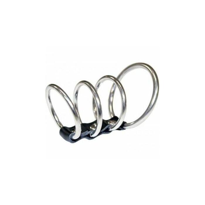 Sex & michief 4 rings metal excite