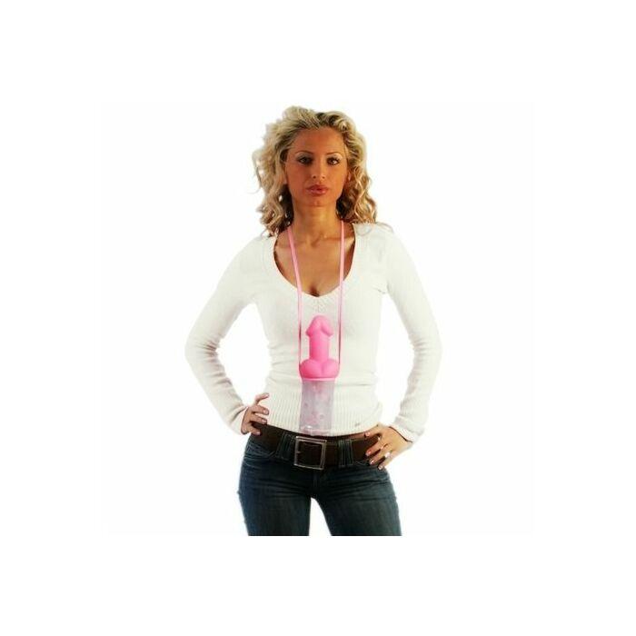 Biberon pink tulle to hang pito