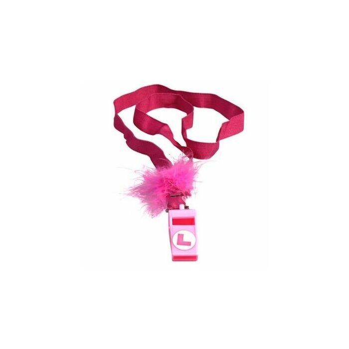 Pink marabou whistle