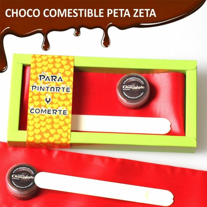 Case to paint and eat chocolate flavor