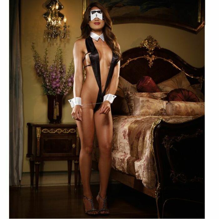 sexy waitress costume, indecent affair