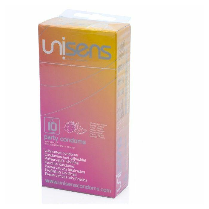 Unisens variety of flavored condoms 10 pcs